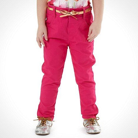 Baker by Ted Baker - Girl's pink belted jeans