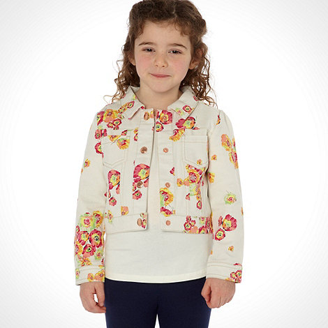 Baker by Ted Baker - Girl+s multi floral printed denim jacket