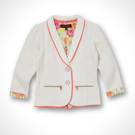 Baker by Ted Baker - Girl+s cream sweat jacket