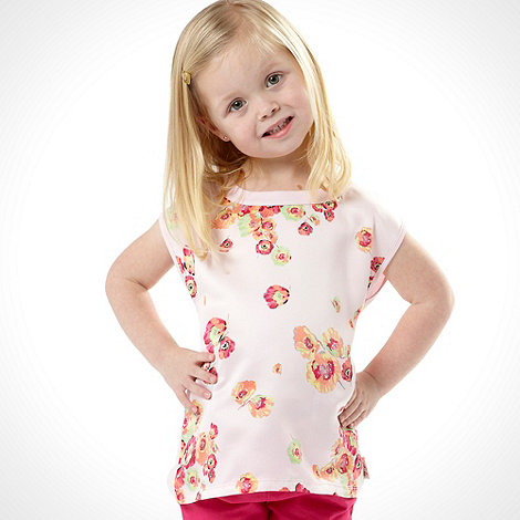 Baker by Ted Baker - Girl+s pink short sleeved floral print top