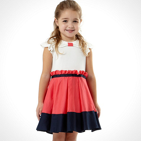 Baker by Ted Baker - Girl+s coral colour block dress