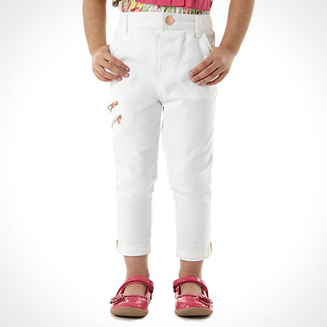 Baker by Ted Baker - Girl+s white ankle length jeans