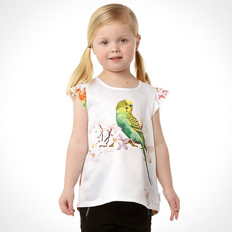 Baker by Ted Baker - Girl's white short sleeved budgie top
