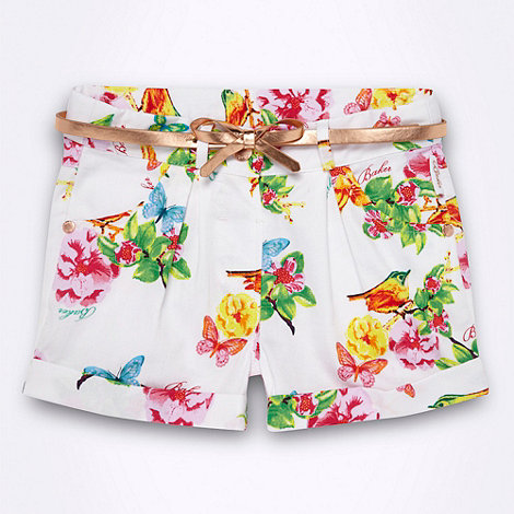 Baker by Ted Baker - Girl's metallic rose belted floral shorts
