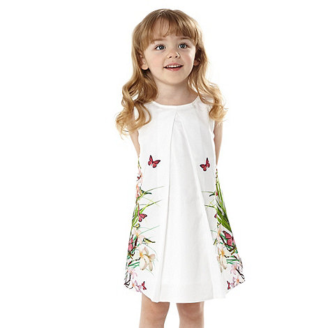 Baker by Ted Baker - Girl+s white mirror print dress
