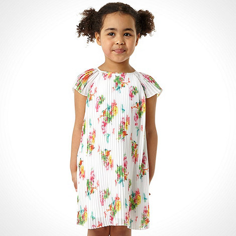 Baker by Ted Baker - Girl+s white pleated floral dress