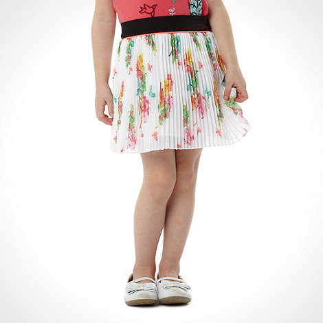 Baker by Ted Baker - Girl+s white pleated garden skirt
