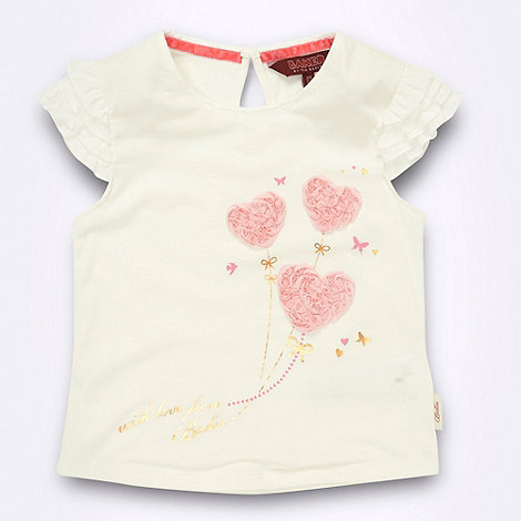 Baker by Ted Baker - baby+s cream heart balloon t-shirt