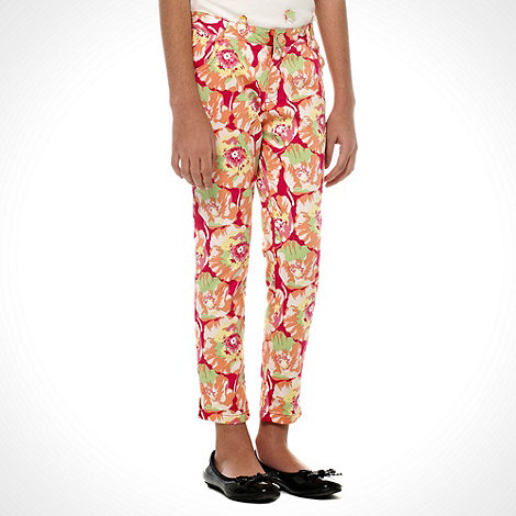 Baker by Ted Baker - Girl+s multi all over floral printed trousers
