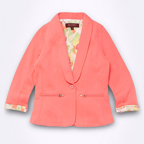 Baker by Ted Baker - Girl+s neon pink jersey blazer