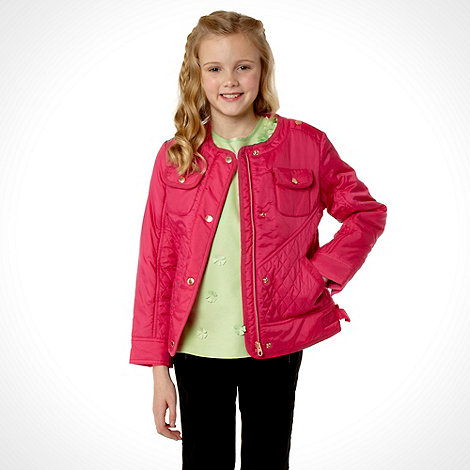 Baker by Ted Baker - Girl+s pink quilted jacket