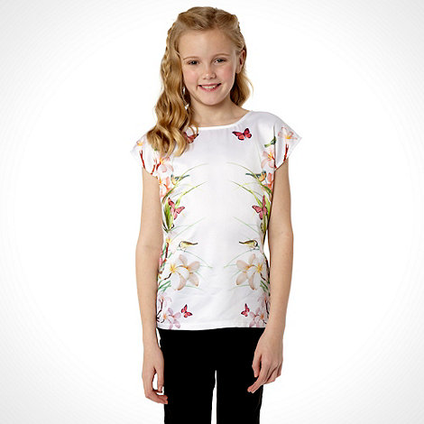 Baker by Ted Baker - Girl+s white mirror print top