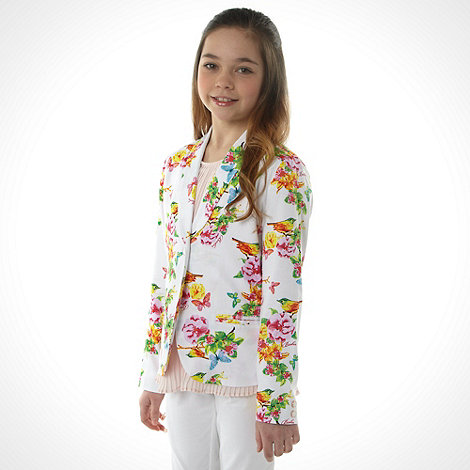 Baker by Ted Baker - Girl+s white allover garden printed jacket