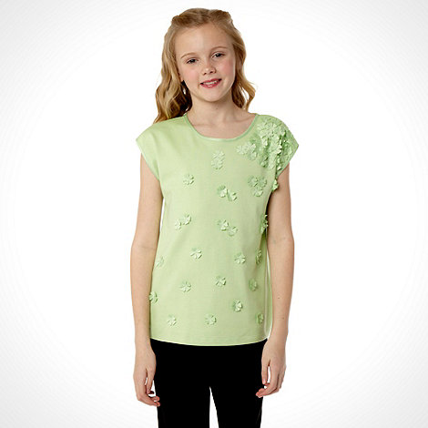 Baker by Ted Baker - Girl+s green 3d flower top