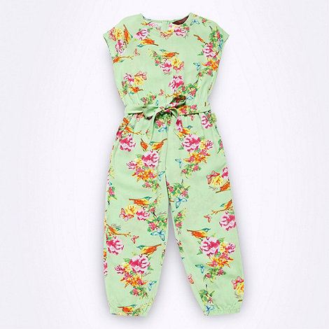 Baker by Ted Baker - Girl+s green bird jumpsuit