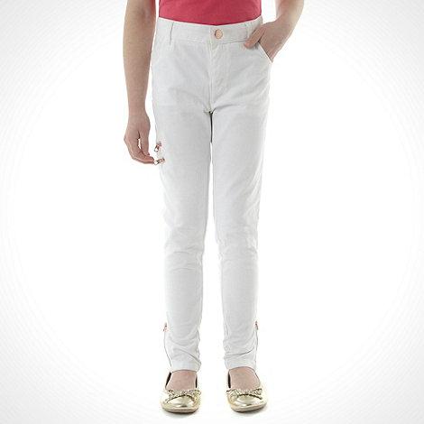 Baker by Ted Baker - Girl+s white zip jeans