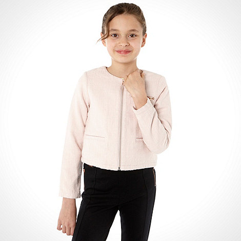 Baker by Ted Baker - Girl+s light pink boucle jacket