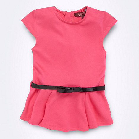 Baker by Ted Baker - Girl+s pink belted peplum top