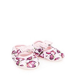Baker by Ted Baker - Baby girls' pink floral print shoe slippers