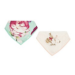 Baker by Ted Baker - Baby girls' two pack floral print bibs