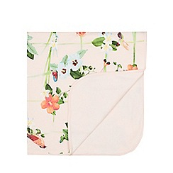 Baker by Ted Baker - Baby girls' light pink bird and floral print blanket