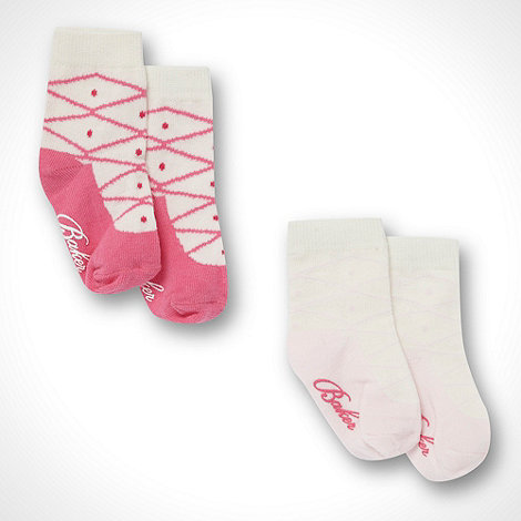 Baker by Ted Baker - Babies pack of two pink ballet socks