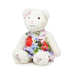 Baker by Ted Baker - White teddy in a floral dress toy
