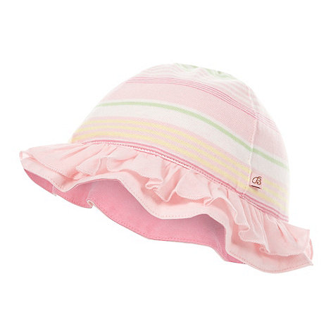 Baker by Ted Baker - Babies pink striped reversible hat