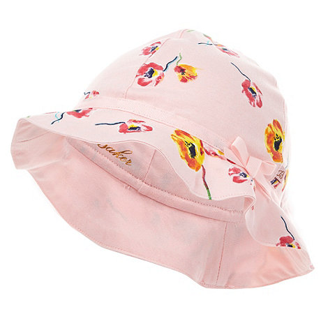 Baker by Ted Baker - Babies pink poppy print hat