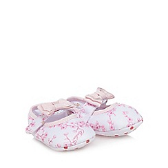 Baker by Ted Baker - Baby girls' white and pink blossom print shoes