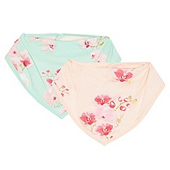 Baker by Ted Baker - Pack of two pink and blue floral print bibs