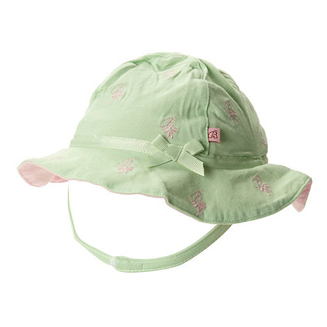 Baker by Ted Baker - Babies green embroidered sun hat