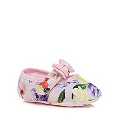 Baker by Ted Baker - Baby girls' pink floral print shoes