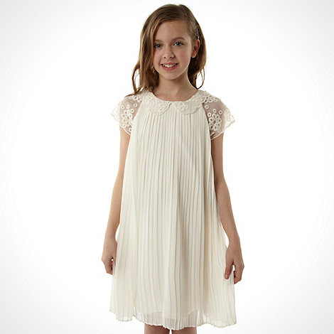 Baker by Ted Baker - Girl+s white pleated dress