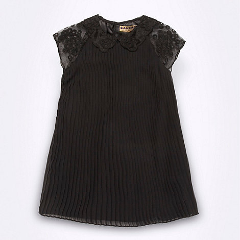 Baker by Ted Baker - Girl+s black pleated dress
