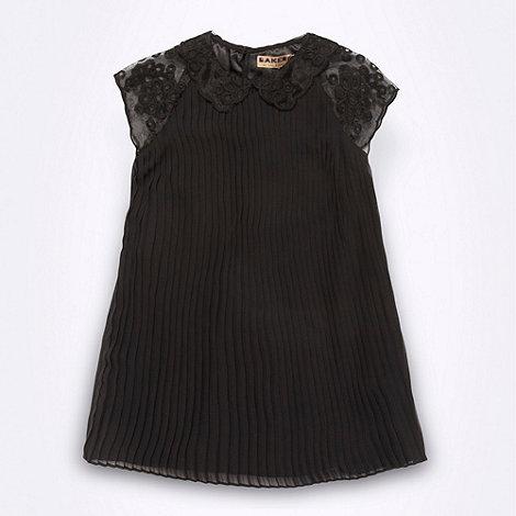 Baker by Ted Baker - Girl+s black pleated dress