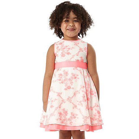 Baker by Ted Baker - Girl+s pink jacquard dress