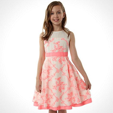Baker by Ted Baker - Girl+s pink jacquard dress