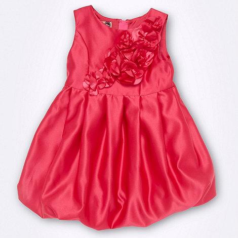 Baker by Ted Baker - Girl+s dark pink rose applique party dress