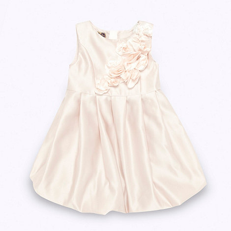 Baker by Ted Baker - Girl+s pale pink rose applique party dress