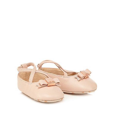 Baker by Ted Baker - Baby girls+ pink leather shoe