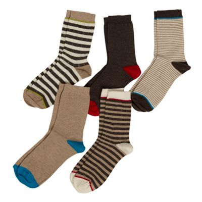 Boys Pack Of Five Socks