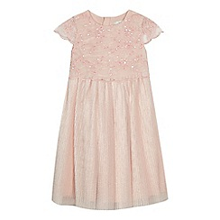 RJR.John Rocha - Girls' pink floral lace dress