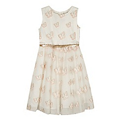 RJR.John Rocha - Girls' light pink butterfly sequin dress