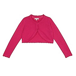 RJR.John Rocha - Girls' pink scalloped trim cardigan