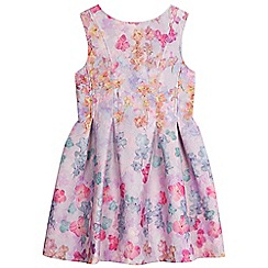 RJR.John Rocha - Girls' multi-coloured floral textured dress