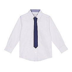 RJR.John Rocha - Boys' white Oxford shirt with a tie