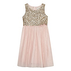 RJR.John Rocha - Girls' gold and pink sequinned embellished dress