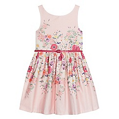 RJR.John Rocha - Girls' light pink floral print belted dress