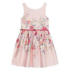 RJR.John Rocha - Girls' light pink floral print belted dress